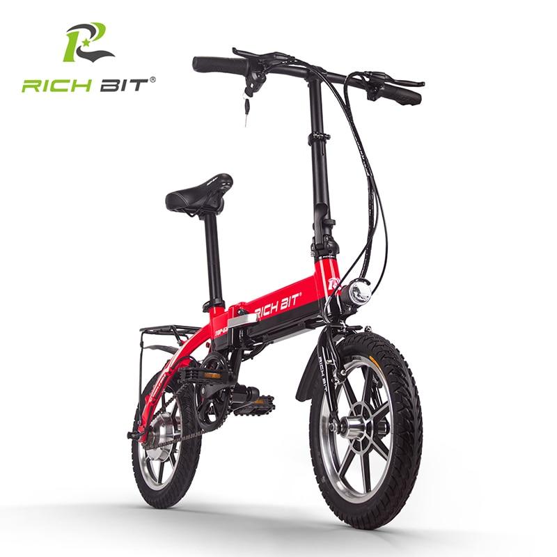 96bb1ab394831 Richbit 14 pouces Portable ville vélo électrique pliant Mini vélo pliant  250 W * 36 V 10.2Ah batterie au Lithium vélo électrique ville cyclisme dans  Vélo ...