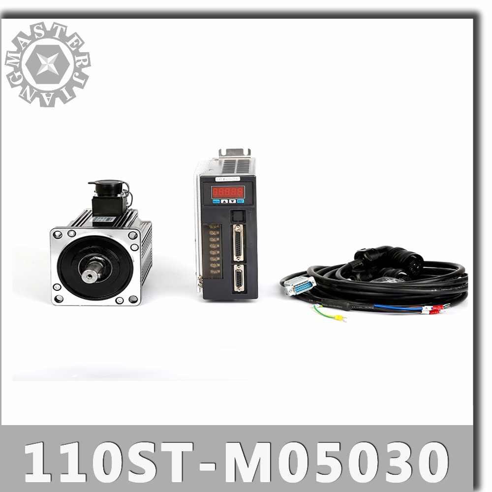 110ST-M05030 220 V 1.5KW SILNIK AC SERVO 1500 W 3000 obr/min 5N. M servomor jednofazowy napęd z magnesem trwałym dopasowany sterownik AASD30A