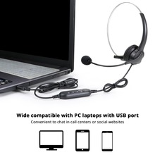 USB Headset With Noise Cancelling Adjustable Call For Business