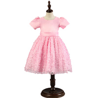 Baby Girls Big Bow Flower Lace Princes Dress Tutu Wedding Birthday Party Gown For Girl Teenager