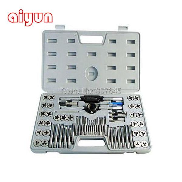 60 pz/set toccare e die set m3 ~ m12 vite metrica spine taps & tap & die chiave chiave, rubinetti a vite a mano a mano threading