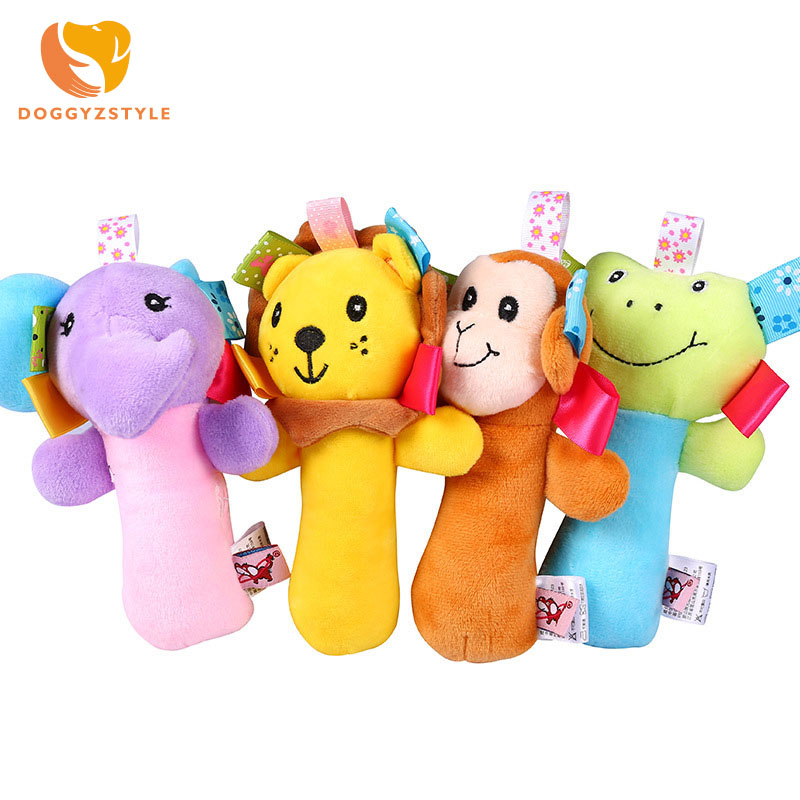 Cute Animal Dog Cat Pet Chew Toys Dogs Squeaker Squeaky Sound Toys for Small Medium Pet Dog Products High Quality DOGGYZSTYLE