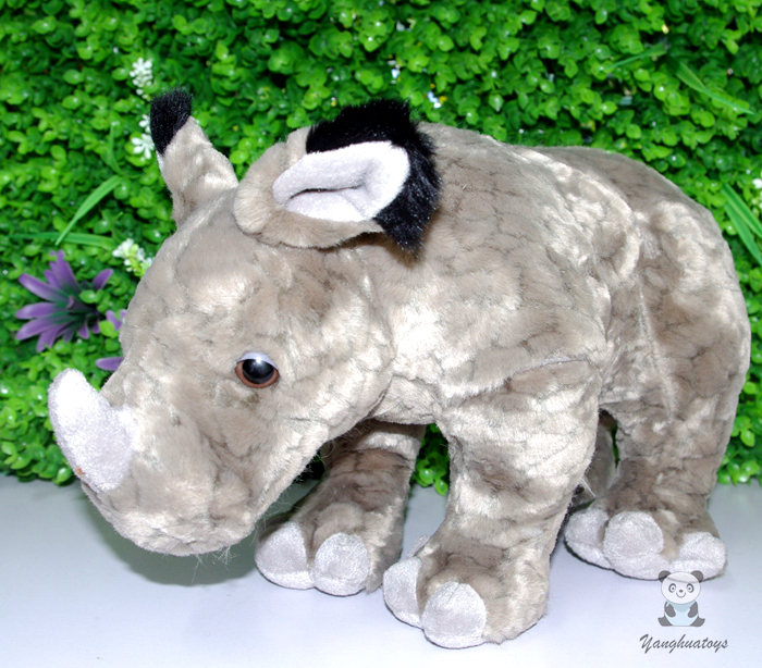 Stuffed Animal Children'S Toys Gifts  Simulation  Rhino Doll  Plush Toy White Rhinoceros bookfong 1pc 35cm simulation horse plush toy stuffed animal horse doll prop toys great gift for children