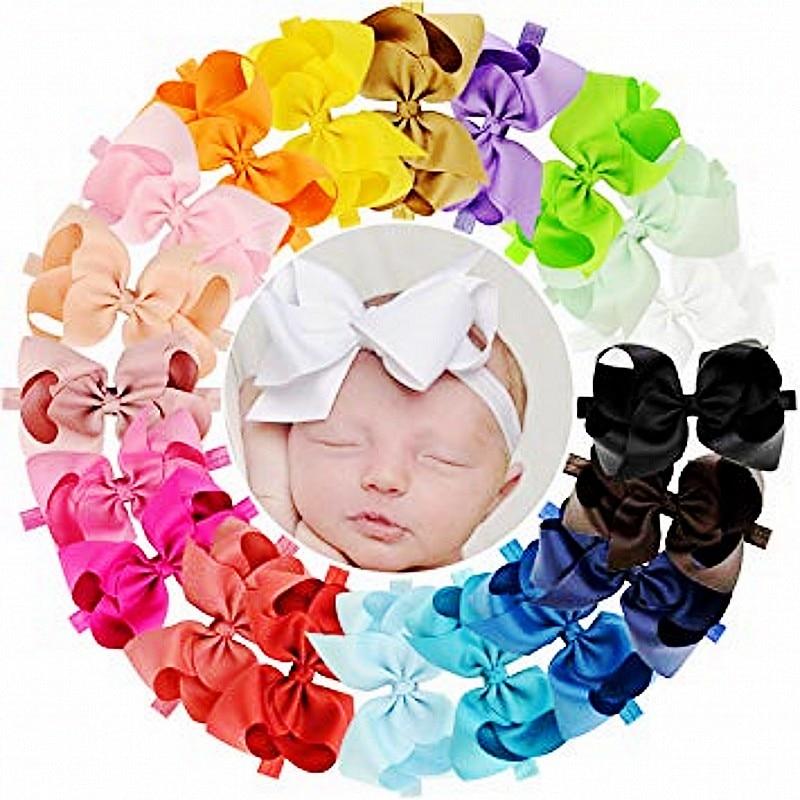 6 hüvelykes fejpántok Szalag nagy haj íjak lányoknak nagy haj íj óriás fejpántok 16 szín