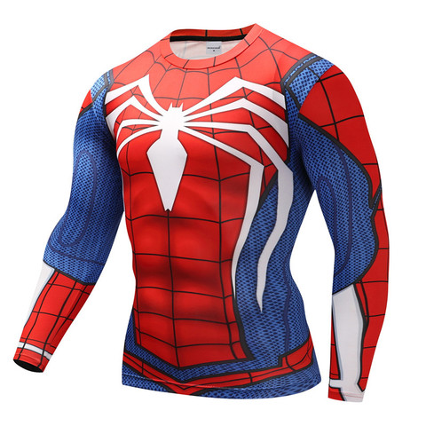 Spiderman T shirts Men Compression T-shirts Fitness Spider Man T-shirts Bodybuilding Top Hot Sale rashguard Brand Lahore