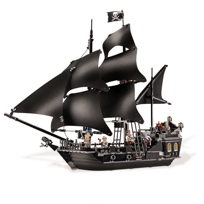 Lepining 16006 Diy Model Pirates of The Caribbean Black Building Block Set The Pearl Ship Toys Clone legoingly 4184 for gift kid waz compatible legoe pirates of the caribbean 4184 lepin 16006 804pcs the black pearl building blocks bricks toys for children