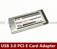 Brand New MacPro Laptop PCI Express to USB 3.0 PCI E Card Adapter 5 Gbps PCMCIA Dual 2 Ports 34MM Slot ExpressCard Converter