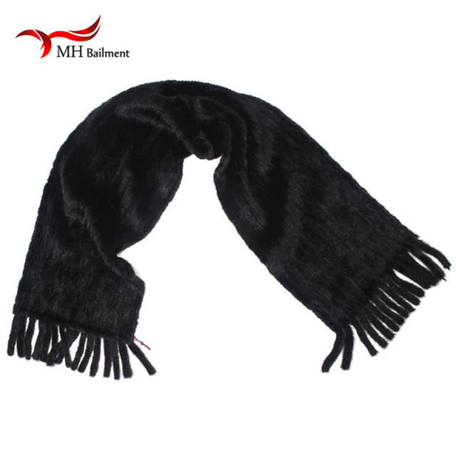 2016 Female Knitted Real Mink Fur Scarf Winter Neck Women Natrral Fur Scarves Wraps Mink S#50