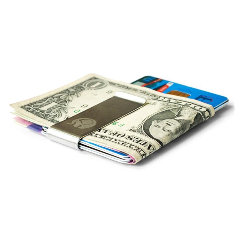 1 Stück Hohe Qualität Edelstahl Metall Geld Clip Mode Einfache Silber Dollar Bargeld Clamp Halter Brieftasche Für Männer Frauen