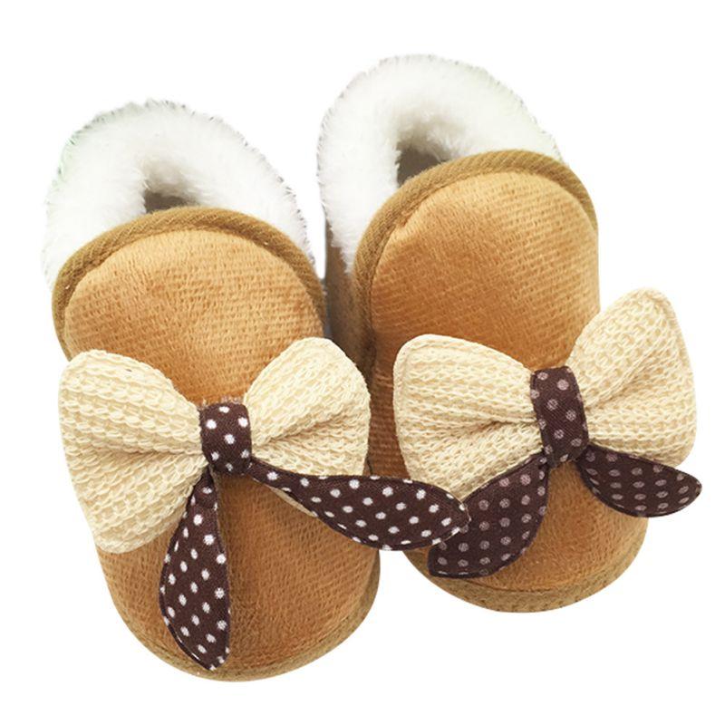 Winter Baby Kids Warm Plush Boot Infant Bootie Crib Shoes Girl Warm Snowboot