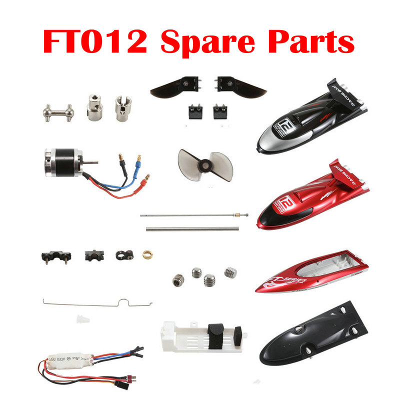 RC Boat FT012 Original Spare Parts Battery Remote Control ESC Motor Propeller Servo and Relation Backup Parts