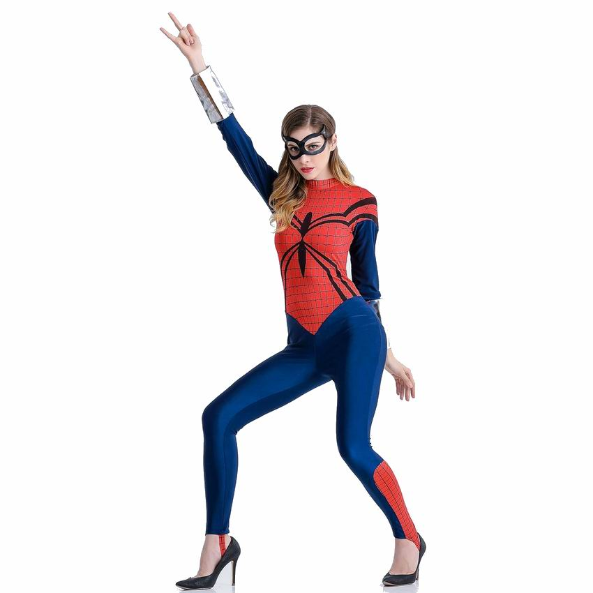 Women Spiderman Cosplay Costumes Spiderman Superhero Costume Adult Christmas Carnival Party Clothes Jumpsuits And Mask