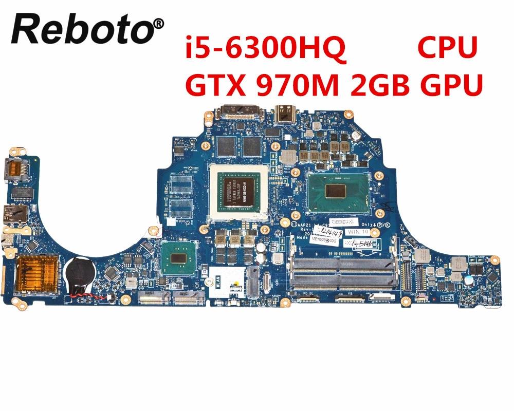 US $625 1 5% OFF|Reboto For Dell Alienware 15 R2 17 R3 Laptop Motherboard  DDR4 LA C912P 0X1DJ6 X1DJ6 With i5 6300HQ CPU GTX 970M 2GB GPU-in