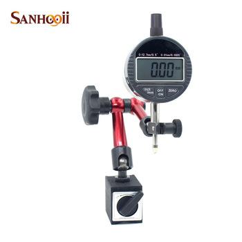 SANHOOII 0 01mm 0 0005 #8221 wskaźniki zegarowe i metalowy uchwyt magnetyczny instrumenty pomiarowe narzędzia pomiarowe tanie i dobre opinie Metalworking CN (pochodzenie) 0-12 7mm Vertical Cyfrowy HW603 0-12 7mm 0 5 Plastics Metal +-0 03mm 0 01mm 0 0005 1 5V SR44 Battery