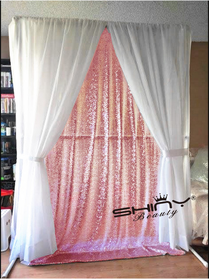 8x8 Sequin Backdrop Pink Gold Diy Photobooth Wedding Backdrop