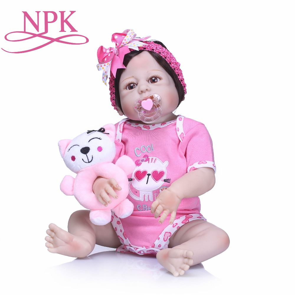 55cm Full Body Silicone Reborn Girl Baby Toys Lifelike Bebe Reborn Dolls Child Birthday Christmas Baby Gift Reborn Bonecas bebe 55cm full body silicone reborn baby girl doll toys lifelike baby reborn doll kids child birthday gift bonecas reborn
