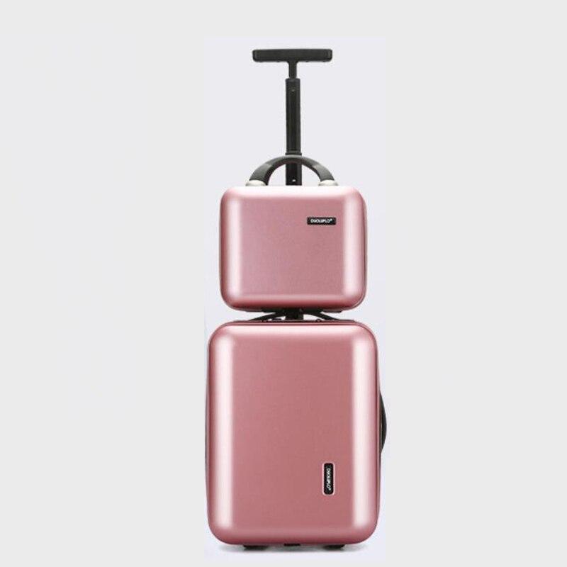 Opowieść podróży 16 cal new arrival kabiny wózek różowy ręcznie do przenoszenia bagażu, na zestaw walizek w Walizka na kółkach od Bagaże i torby na  Grupa 1
