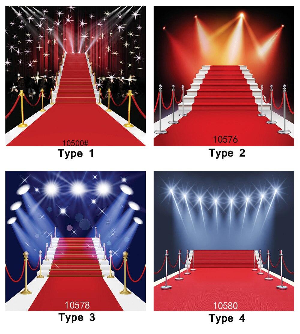 Scène éclairage partie tapis rouge 8X8ft photographie arrière-plan caméra Fotografica impression tissu Photo décors pour Studio Photo