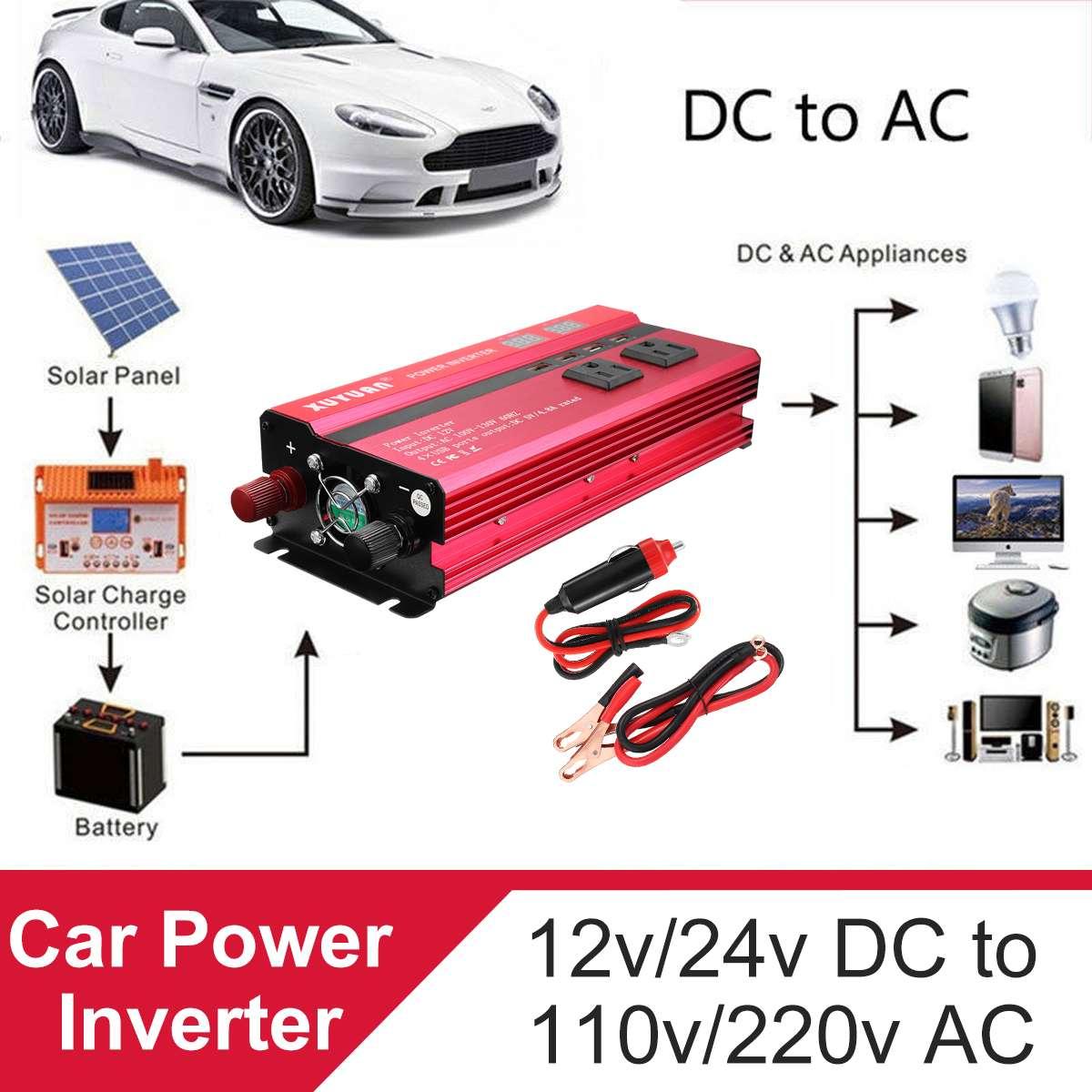 12V 220V 4000W Car Power Inverter Solar Inversor LCD Display 21