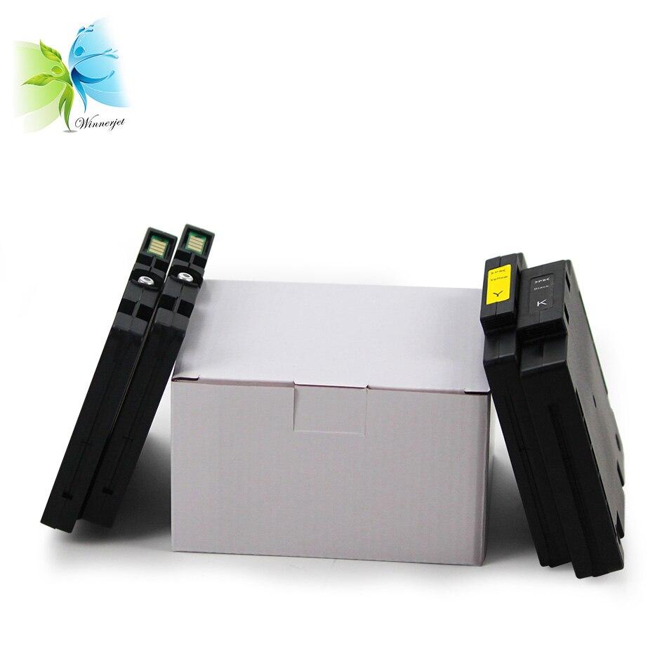Winnerjet 5set 4 color for Ricoh GC41 pigment ink cartridge aficio sg 3110dn 3110 2100 7100dn