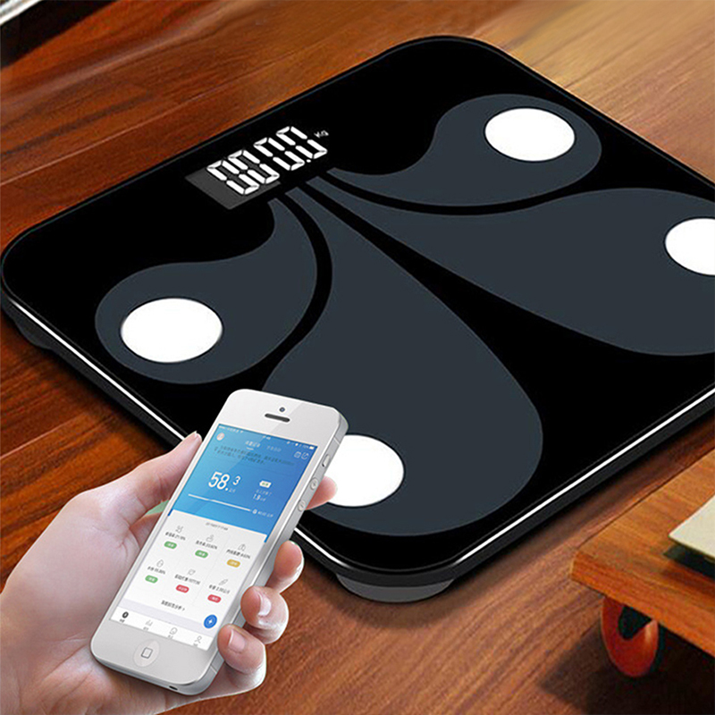 bathroom smart scale Bluetooth body fat electronic called APP household weighing