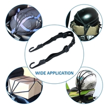 Motorcycle Helmet Elastic Rope Strap Tensioner Elastic With Hook 43inch Max Length Tensioning Belts Retractable Helmet Luggage