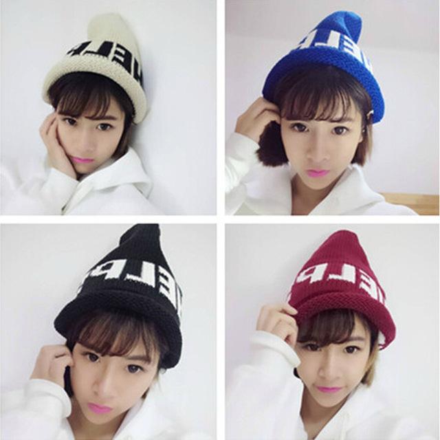 La edición de Han spire borde precioso otoño invierno ocio carta triangular tejer gorro de lana casquillo de los niños