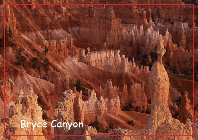 USA Travel Magnets Gifts Bryce Canyon National Park Utah Travel Refrigerator Magnets 20492 Rectangle 78*54*3 mm
