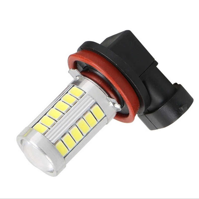 1PC Car led H7 H8 H11 9005 HB3 9006 HB4 H16 PSX24W P13W 33SMD LED Auto Fog Lamp Car Bulb 6000K Driving Lamp 12V white