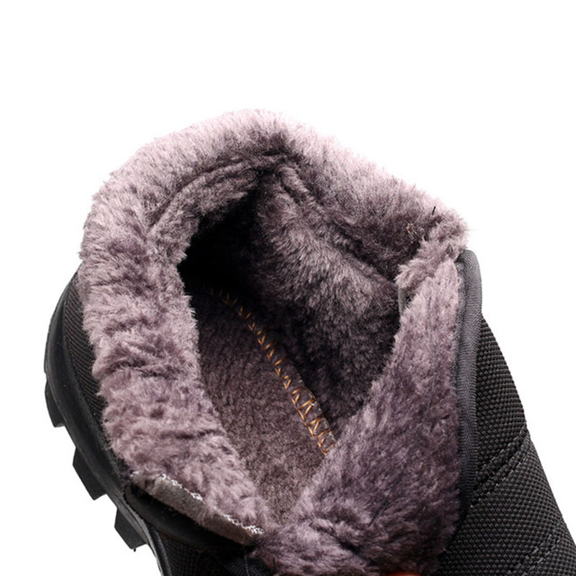 Men Winter Snow Boots Ankle Boots With Plush Fur
