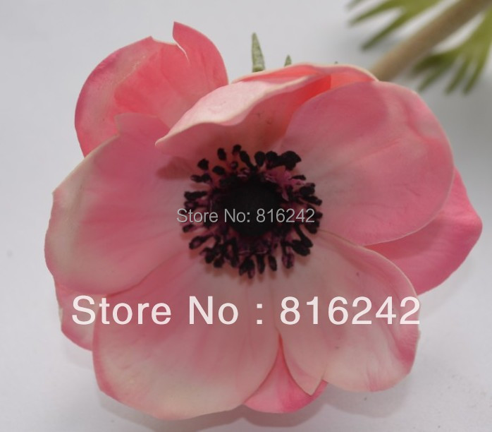 7 colors real touch flowers white pink anemones flowers with real touch flowers white pink anemones flowers with stems more higher quality than silk anemone free shipping in artificial dried flowers from home mightylinksfo