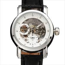 Лидирующий бренд женские часы победитель полые кожаный ремешок классические женские часы с бриллиантами Скелет autonatic платье Механические часы