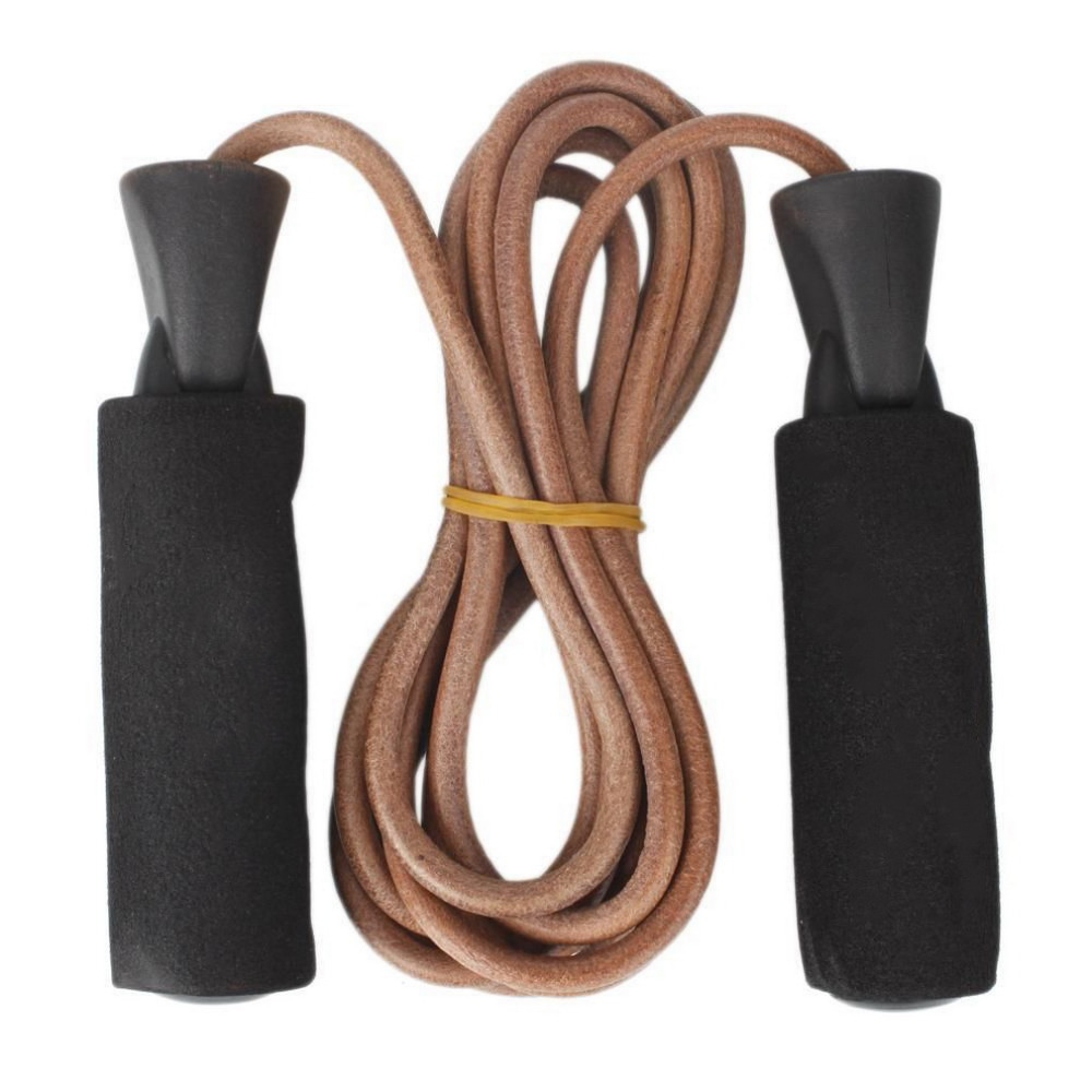 3m Bold Leather Fitness Speed Skipping Jump Rope Adjutable For Gym Training Lose Weight Exercise