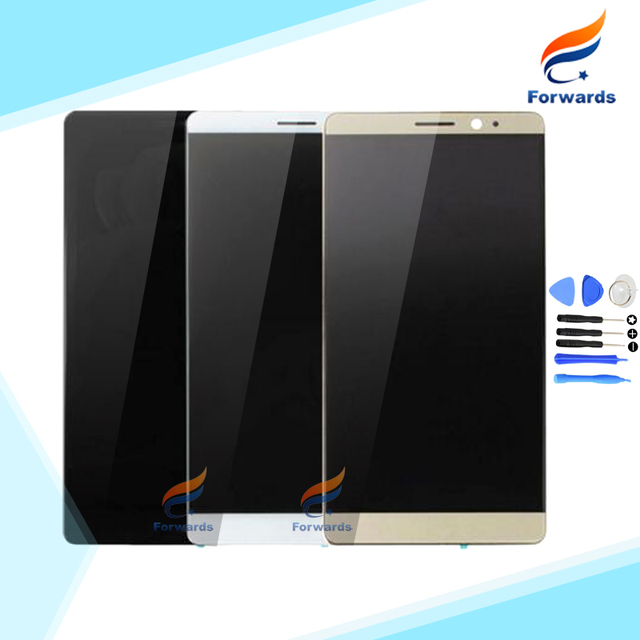 100% Brand new Black&White&Gold for Huawei Mate 8 Lcd Screen Display with Touch Digitizer + Tools Assembly 1 piece free shipping