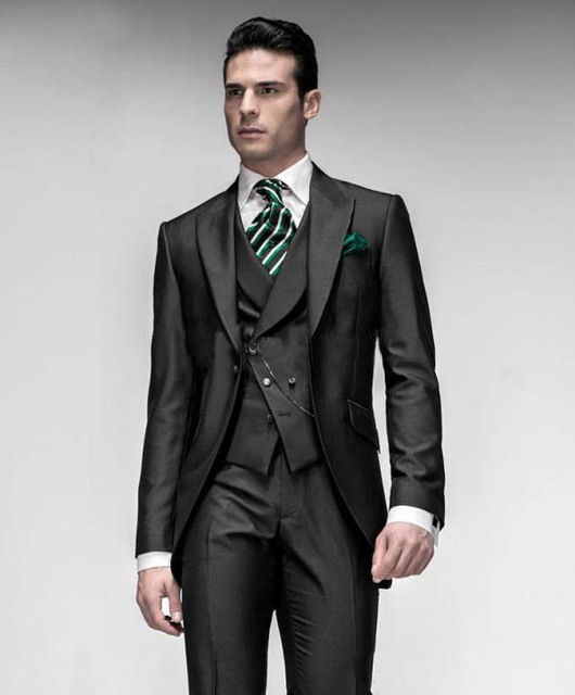 New Mens Wedding Suits Groomman Suits Bridegroom Tuxedos Business