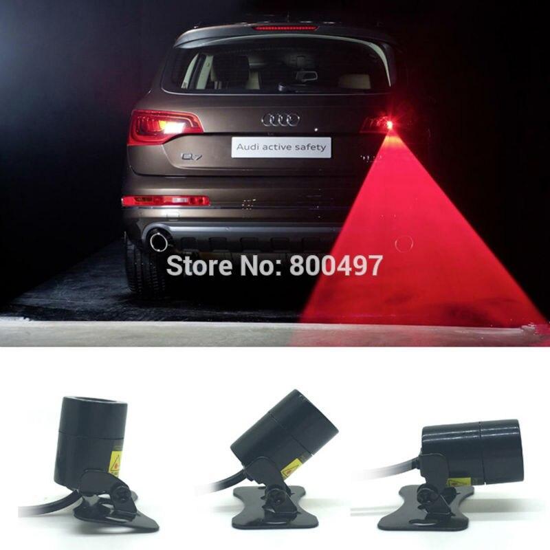 Newest Universal Auto Car Laser Fog Light Rear Anti-Collision Driving Safety Signal Warning Lamp Braking Parking Warning Light