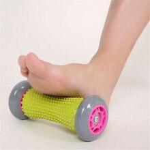 Pé massagem mão rolo gatilho ponto tecido profundo fisioterapia para fasciite plantar calcanhar pé arco alívio da dor cuidados com os pés