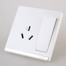 Home Furnishing Wall Switch Socket, 86 Concealed Large Board Jade White, A Double-Control Three-Hole Switch Socket, 10A PC 220V qfn44 mlf44 wlcsp44 to dip44 double board programming socket ic550 0444 010 g pitch 0 5mm ic size 7x7mm adapter smt test socket