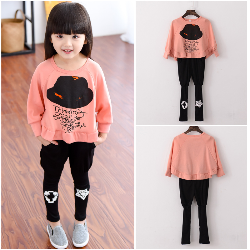 2018 new fashion baby girl clothes spring and autumn girls body suit quality children top and pants kids clothing sets in Clothing Sets from Mother Kids
