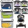 Baby Stroller hanging bags Multifunctional Waterproof Receive bag Baby Stroller Accessories Cartoon hanging Cart mesh bags YL380