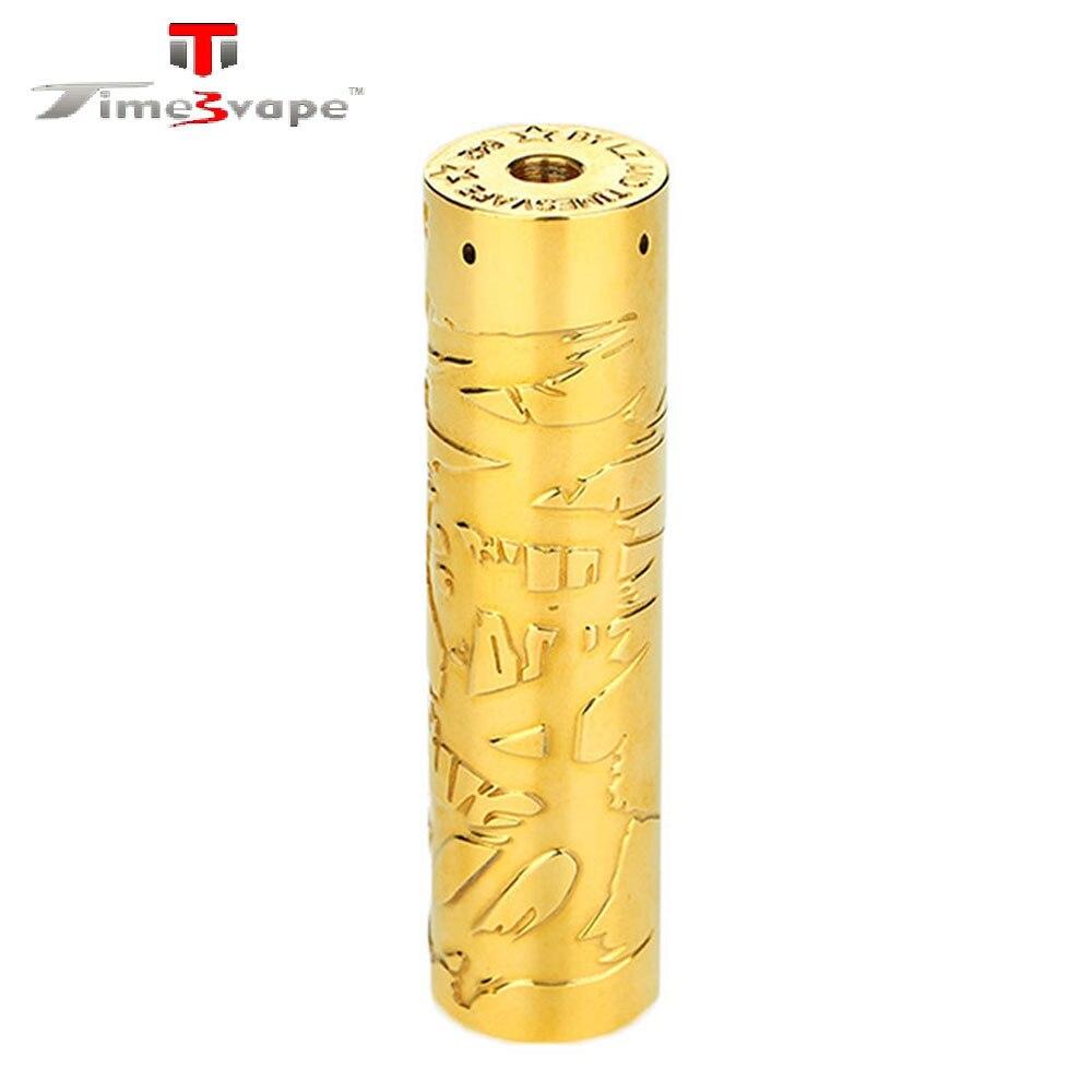 Timesvape Saint Mech MOD avec Printemps Fond Bouton No 20700/21700/18650 Batterie E-Cigarette Vaporisateur Mécanique MOD VS armure Premier