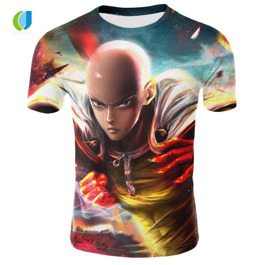 D'été 3d Impression UN poinçon superman Anime série de Bande Dessinée de Caractère Hommes T-Shirt De Mode intéressant T-Shirt À Manches Courtes Top