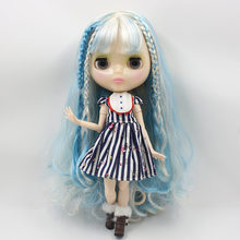 Factory Neo Blythe Doll Lake Blue White Hair Jointed Body 30cm