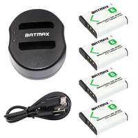 4 Pcs NP BG1 NP BG1 Rechargeable Batteries+USB Charger for SONY Cyber shot DSC H3 DSC H7 DSC H9 DSC H10 DSC H20 DSC H50 DSC H55