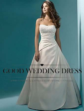 wholesale vestido de noiva 2015 classic design perfect casamento pearl a line strapless robe de mariage