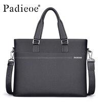 Padieoe Luxury Soft Genuine Leather Men Bag Brand Handbag Business Cowhide Men Briefcase Laptop Bag Male Shoulder Bags