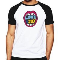 2016 hot sale men's t-shirt love & joy men casual shirt high quality short sleeves men clothes Hip-hop style tops tees for men