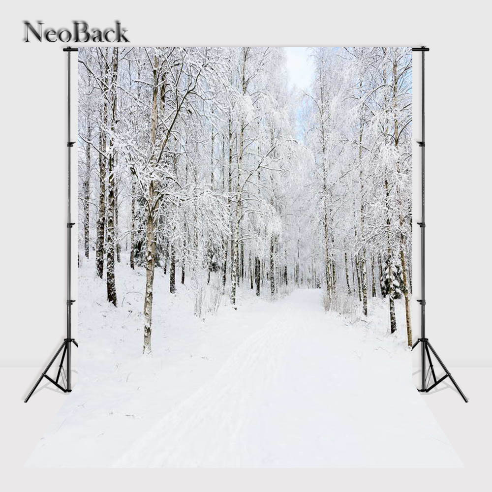 NeoBack 5X7ft baby Winter Forest Scene Photo backdrop Printed Vinyl Cloth Christmas Photo Studio Photography Background P1124 snowman winter backdrop vinyl cloth high quality computer printed christmas photo studio background