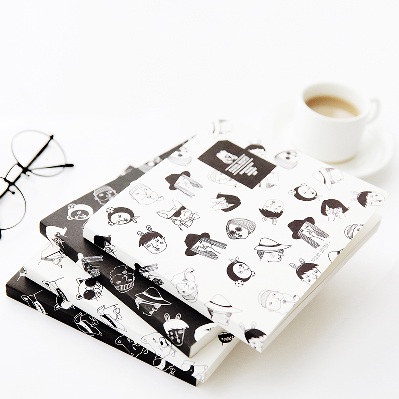 Vintage Cute Graffiti Sketchbook Drawing Blank Notebook White Paper Sketch Book animal cute graffiti sketchbook school kids blank notebook drawing sketch book with blank pages