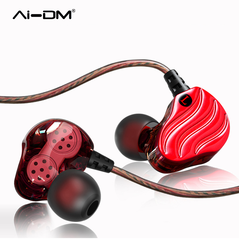AIDM Dual Dynamic Driver Earphones Headphones Bass With Mic Noise Cancelling Ecouteur Ear Buds kulakl k Headsets For iPhone MP3 admi headphones dual drivers dynamic wired music headset with mic bass sports in ear earphones noise earbuds auricolari ecouteur